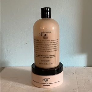 PHILOSOPHY CINNAMON CHAI LATTE BODY WASH & LOTION